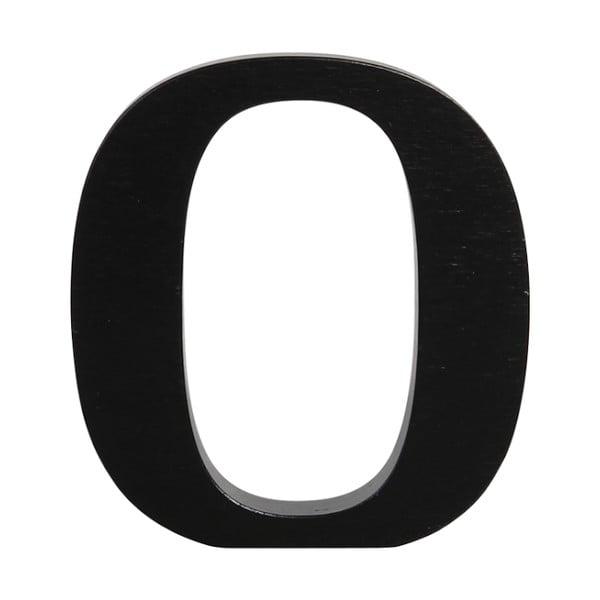 Čierne drevené písmeno Typoland O