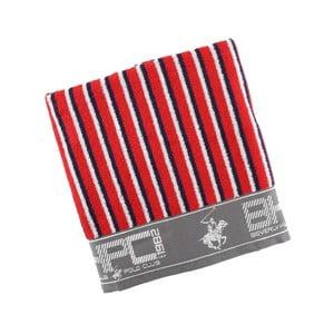 Červeno-modrá bavlnená osuška BHPC, 80x150 cm