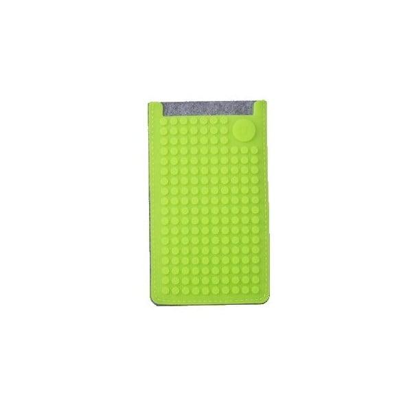 Univerzálny malý obal na telefón PixelArt, grey/aqua green