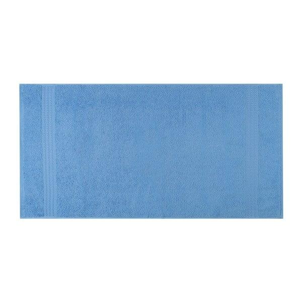 Modrý uterák z čistej bavlny Sky, 50 x 90 cm