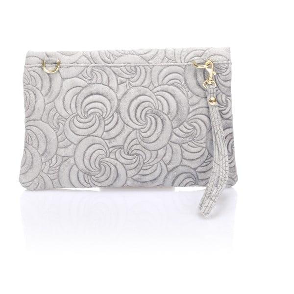 Kožená listová kabelka Flaire, sivá