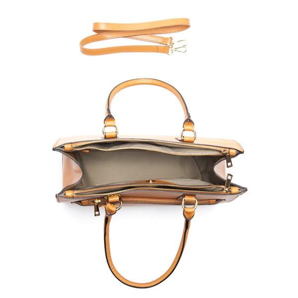 Kožená kabelka Renata Corsi 444 Cognac