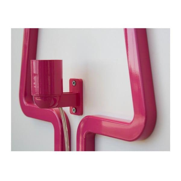 Nástenné svetlo Colored Shape Pink