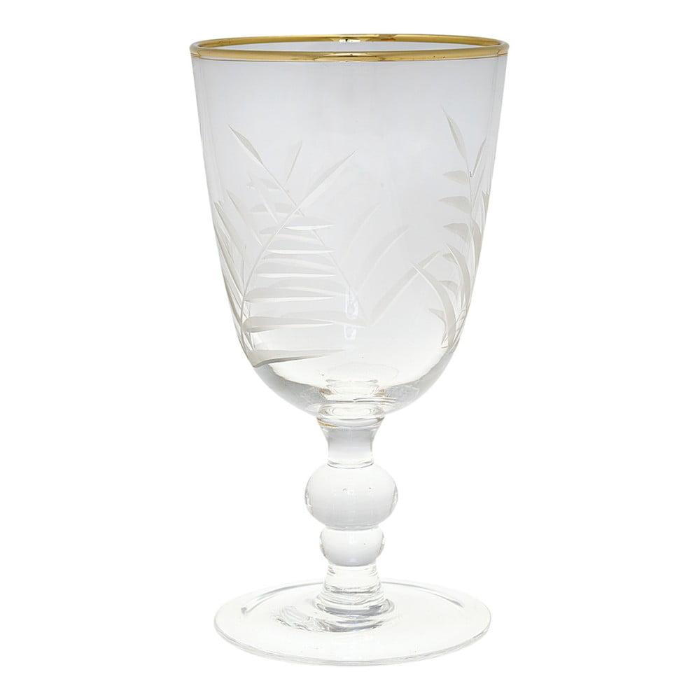 Brúsený pohár na víno Green Gate