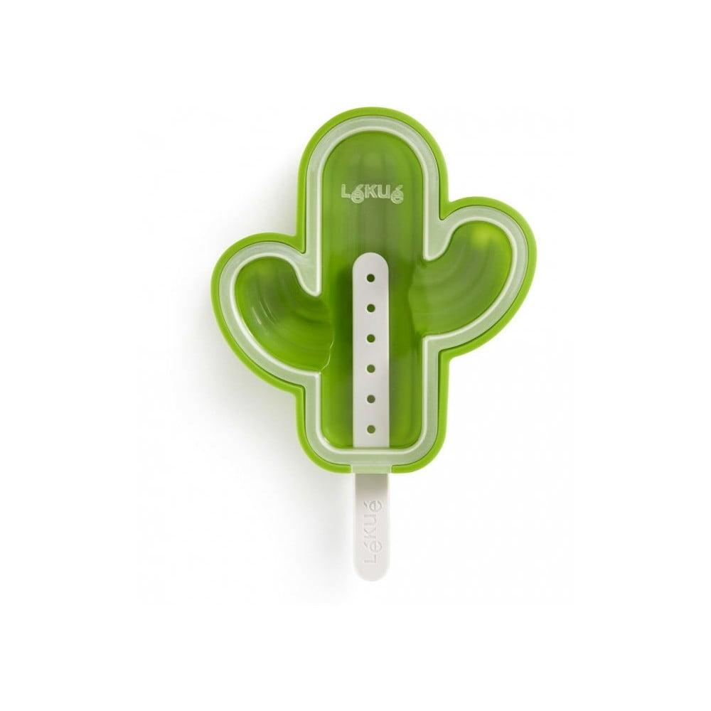 Zelená silikónová forma na zmrzlinu v tvare kaktusu Lékué