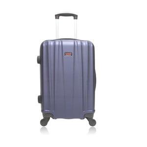 Fialový cestovný kufor na kolieskach Hero Journey, 91l