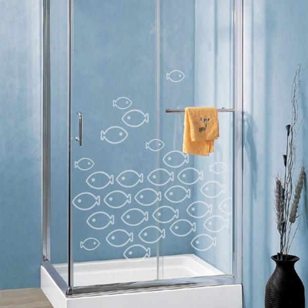 Samolepka Ryby, efekt pieskovaného skla