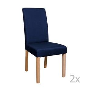 Sada 2 modrých stoličiek House Nordic Mora