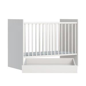 Biela detská postieľka s úložným boxom FAKTUM Eco Line, 120 x 60 cm