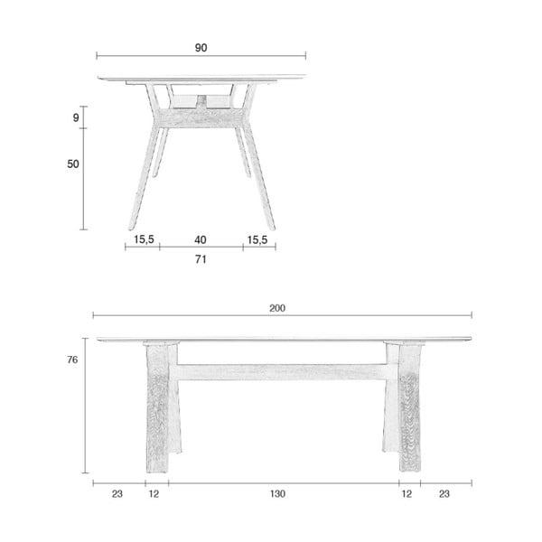 Jedálenský stôl Zuiver High on Wood