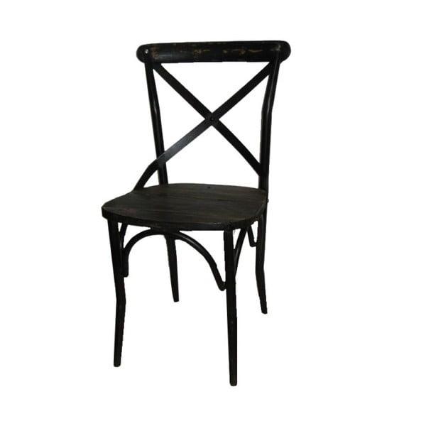 Kovová stolička Antic Line Chaise Noir