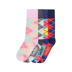 Sada 4 párov farebných ponožiek Funky Steps Olivander, veľ. 35-39
