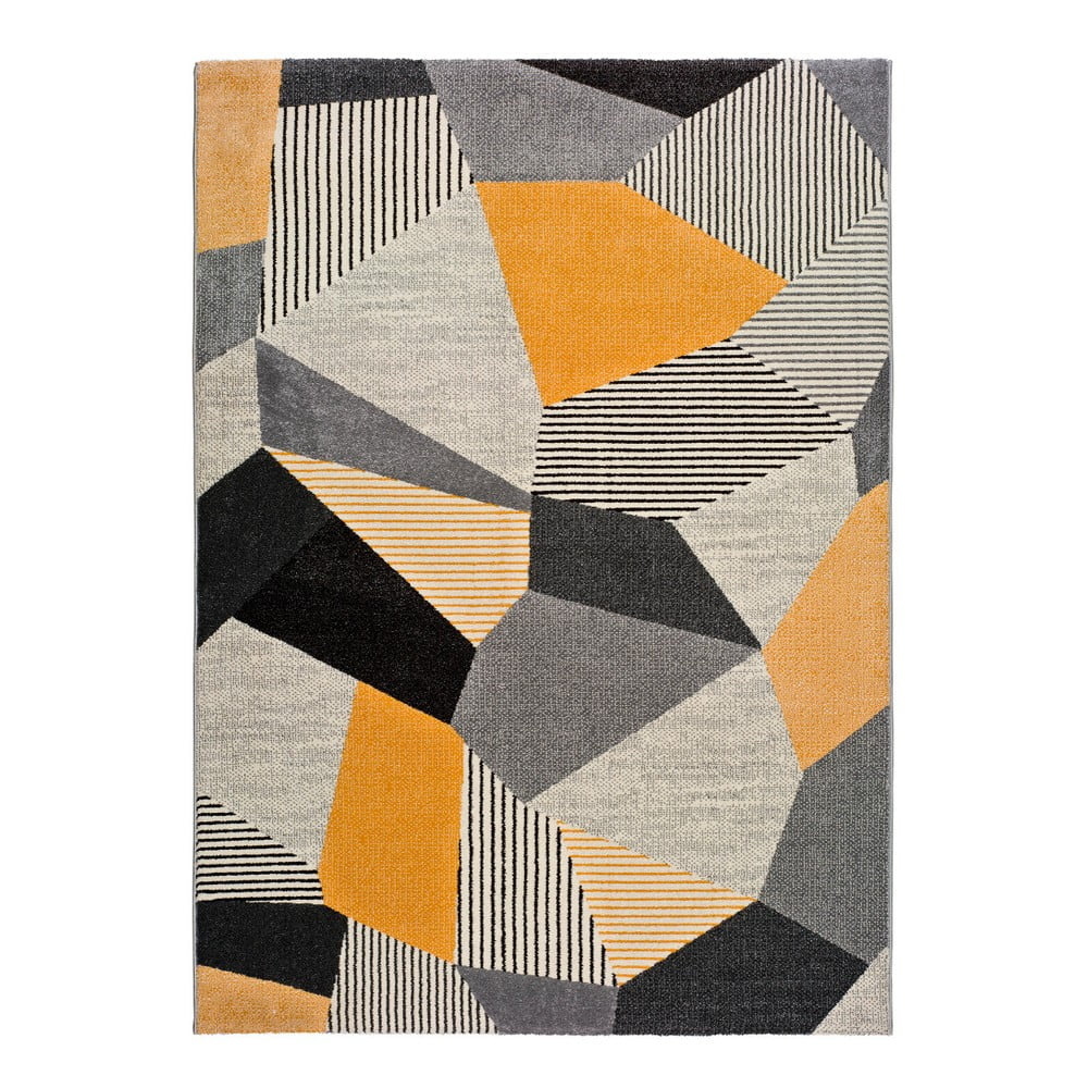 Oranžovo-sivý koberec Universal Gladys Sarr, 80 × 150 cm