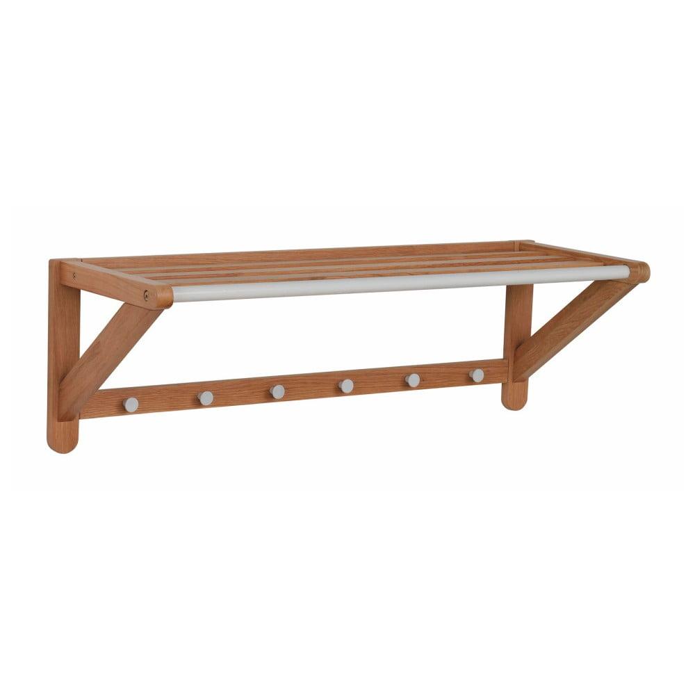 Nástenný vešiak z dubového dreva Rowico Metro