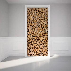 Samolepka na dvere Firewood