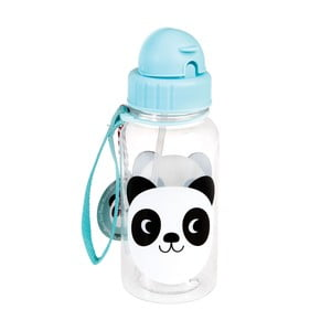 Detská fľaša so slamkou Rex London Miko The Panda, 500ml