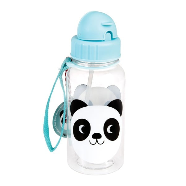 Detská fľaša so slamkou Re× London Miko The Panda, 500ml