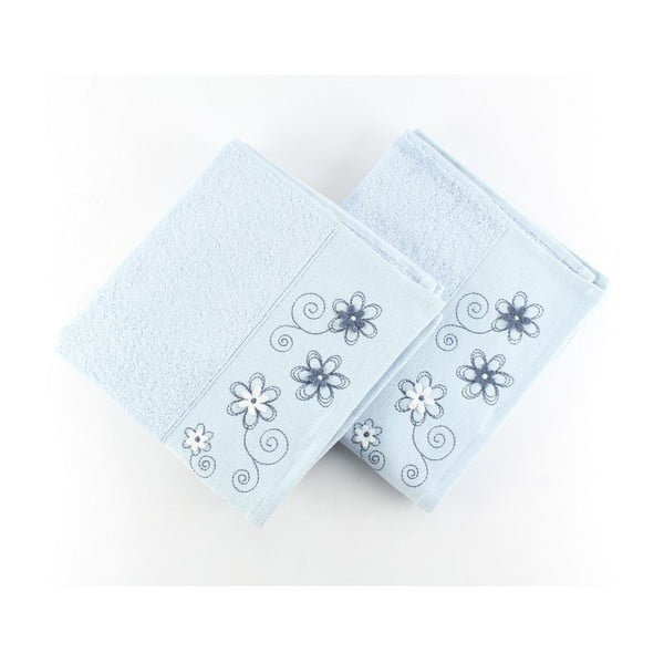 Sada 2 uterákov Gardenya Blue, 50x90 cm