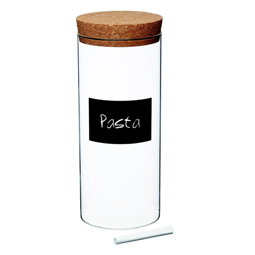 Dóza s tabuľovým štítkom Kitchen Craft Natural Elements, výška 25,5 cm