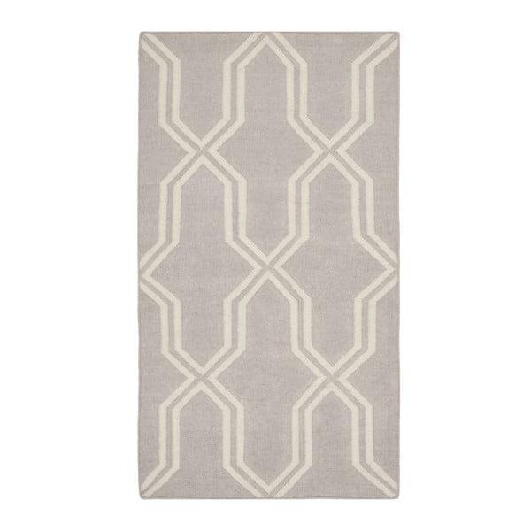 Sivý vlnený koberec Safavieh Aklim, 91x152 cm