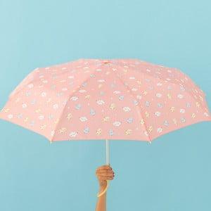Ružový dáždnik Mr. Wonderful Cloudy, šírka 108 cm