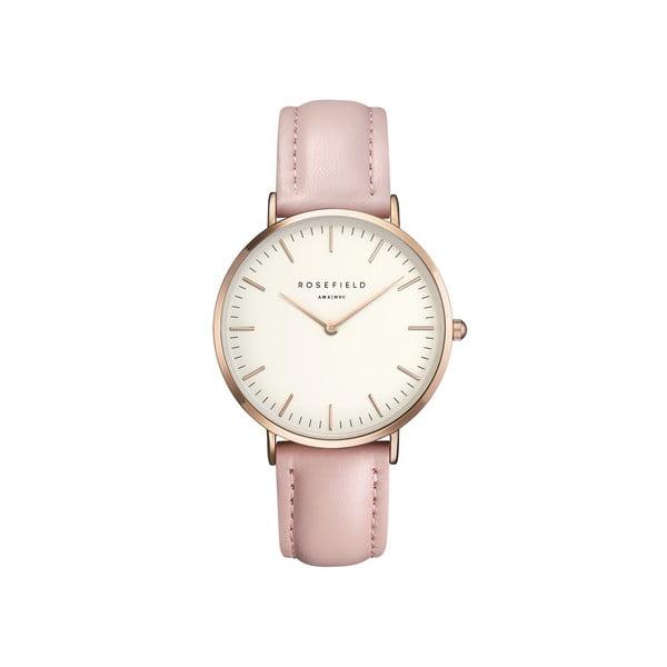 Bielo-ružové dámske hodinky Rosefield The Bowery