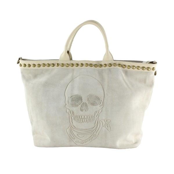 Kožená kabelka Skull, taupe