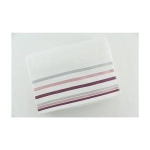 Set 2 osušiek White Purple, 70x140 cm