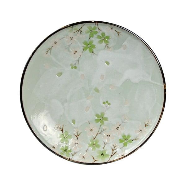 Kameninový tanier Tokyo Design Studio Green Cosmos, 19,5 cm
