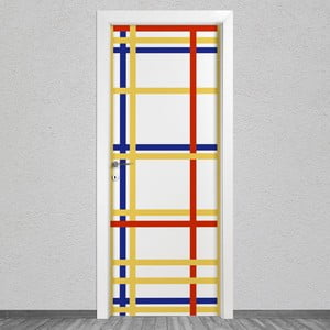 Samolepka na dvere LineArtistica Mondrian 4, 80×215 cm