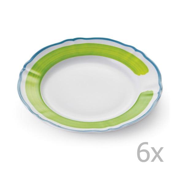 Sada 6 tanierov Giotto Green/Turquoise