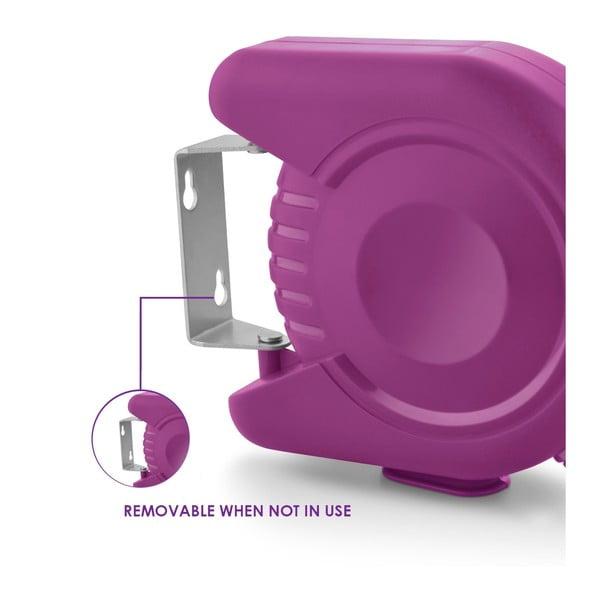 Set sušiacej šnúry a štipcov na prádlo Bonita Flora Purple, 24ks
