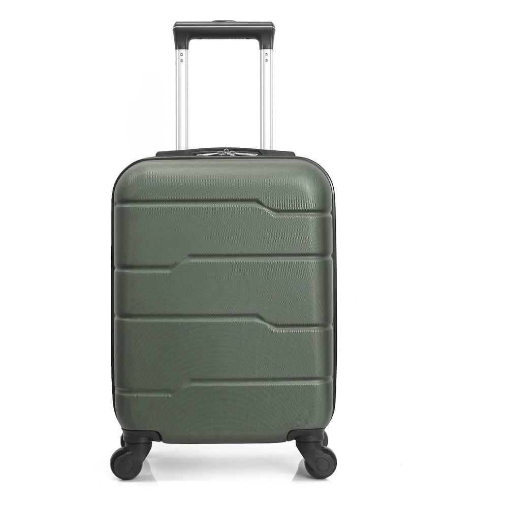 Zelený cestovný kufor na kolieskach Hero Santiago, 30 l