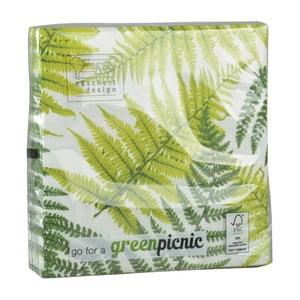 Sada 20 obrúskov Esschert Design Leaf