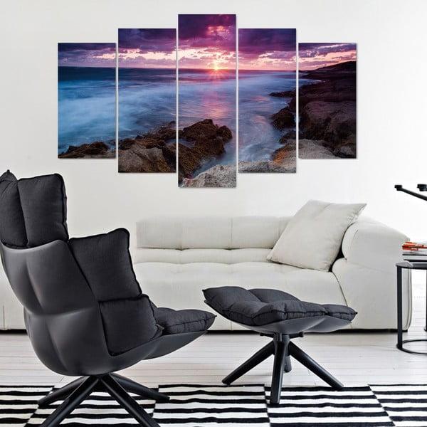 5-dielny obraz Lila Sea, 60x100 cm
