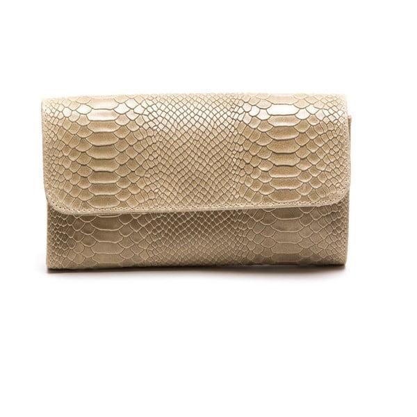Kožená listová kabelka Isabella Rhea 8018, béžová