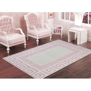 Púdrovoružový odolný koberec Vitaus Versace, 60x90cm
