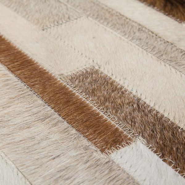 Kožený koberec Eclipse 120x170 cm, krémový