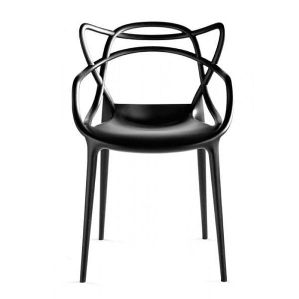 Čierna jedálenská stolička Kartell Masters