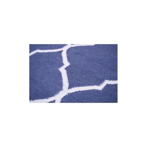 Vlnený koberec Caroline Dark Blue, 120x180 cm