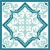Sada 2 prestieraní Blue Decor, 20x20 cm