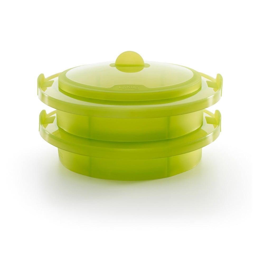 Zelená silikónová nádoba na pečenie v páre Lékué Steamer XL, ⌀ 27,5 cm