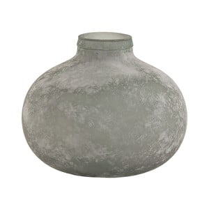 Sivá sklenená váza VICAL HOME Organic, ⌀34 cm