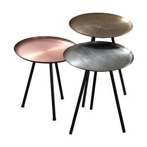 Sada 3 stolíkov Nesting Metallic