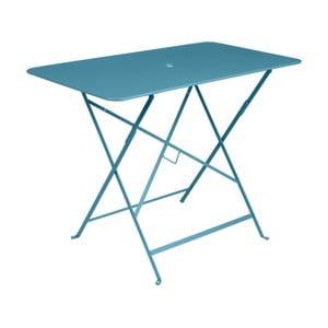 Modrý záhradný stolík Fermob Bistro, 97×57 cm