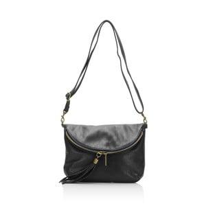 Čierna kožená kabelka Grey Labelz Lisa Minardi Vetro