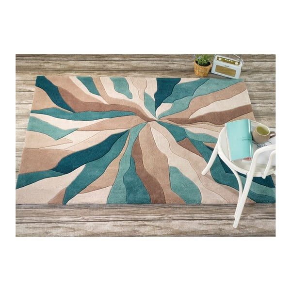 Koberec Flair Rugs Splinter Teal, 160 × 220 cm