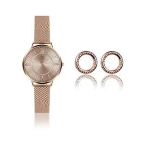 Sada dámskych hodiniek a náušníc Victoria Walls Layla