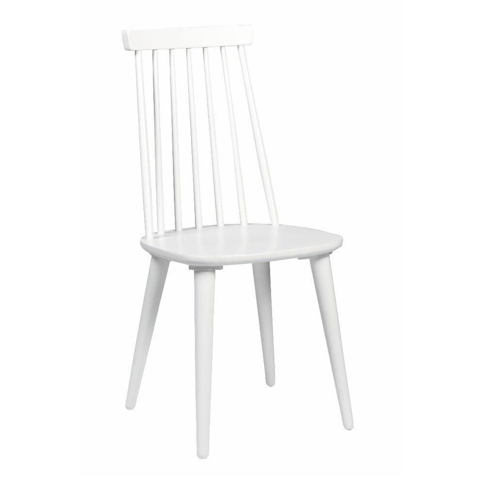 Biela jedálenská stolička z dreva kaučukovníka Rowico Lotta