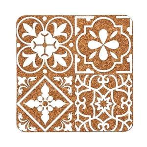 Korková podložka s bielym vzorom Ladelle Marocco